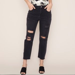 Kendall & Kylie ripped mom jeans